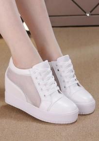Weiß Runde Zehe Heavy-Soled innerhalb der höheren Beiläufig Schuhe