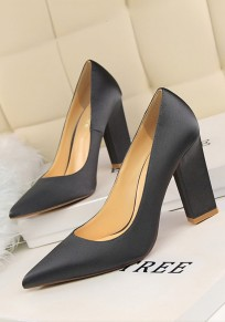 Scarpe tacco alto A punta di punta tacco alto grigio