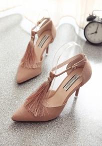Chaussures orteil point talon aiguisé talon à talons hauts rose
