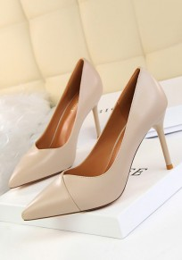 Zapatos punto de punta estilete de moda de tacón alto albaricoque