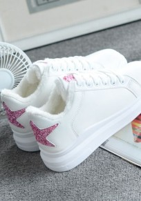 Chaussures bout rond mode star blanc