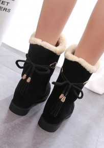 Black Round Toe Within The Higher Fashion Ankle Boots