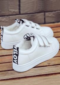 Chaussures bout rond plat décontracté cheville noir