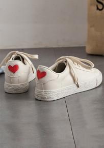 Chaussures bout rond lacets plats décontractés kaki