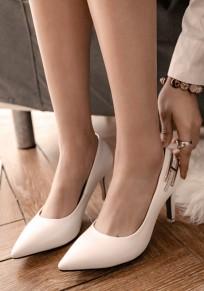 Beige Point Toe Stiletto Rhinestone Fashion High-Heeled Shoes