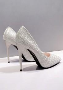 Chaussures bout pointu coiffert point de mode à talons hauts argent