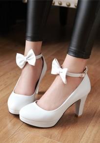 Golden Runde Zehe Blockabsatz Pailletten Elegant High Heels Plattform Pumps Damen Schuhe mit Hohen Absatz