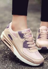 Scarpe stringate casuale A punta rotonda rosa-viola
