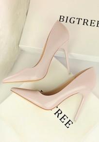 Chaussures bout pointu coiffert mode à talons hauts gris clair