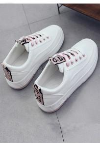 Chaussures bout rond plat décontracté rose