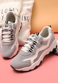 Zapatos puntera redonda casuales gris