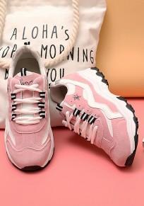 Scarpe tacco piatto rotondo rosa
