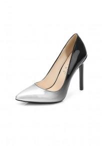 Zapatos punta de tacón de aguja moda tacón alto plata