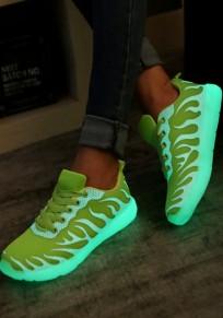 Scarpe A punta piatta con cinturino incrociato alla caviglia casuale verde