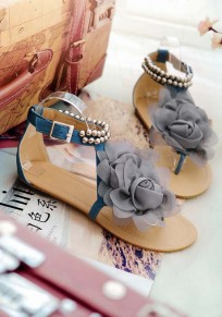 Blaue runde zehe Blumen Wölbungs-Art- und WeiseKnöchel