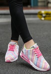 Rosa runde Zehe Spitze up Mode Knöchel Schuhe