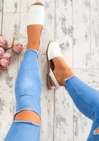 Weiß Piscine Mouth Flache Mode Knöchel Hippie Sommer Flip Flops Römer Sandalen Damen Schuhe