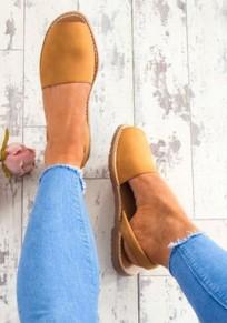 Sandali bocche piatte alla caviglia per piscine marrone