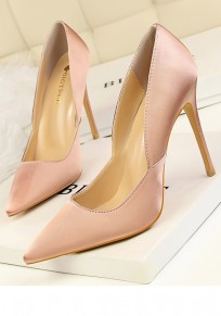 Pink Round Toe Stiletto Fashion High-Heeled Shoes