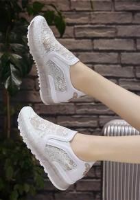 Weiße Stickerei Schmetterling Spitze Mode Knöchel Schuhe