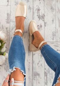Goldene runde Zehe Niet Beiläufig Knöchel Schuhe