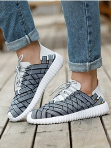 Grey Round Casual Ankle Shoes