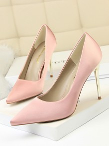 Chaussures bout pointu coiffert talons hauts rose