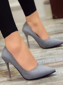 Blue Point Toe Stiletto Fashion High-Heeled Shoes