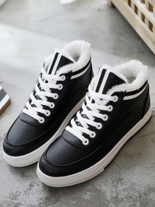 Black Round Toe Flat Casual Fashion Shoes