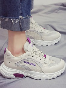 Purple Round Toe Flat Casual Fashion Shoes