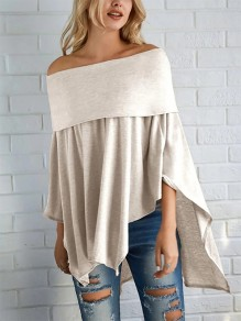 White Going out Fashion Comfy Three Quarter Length Sleeve Blouse