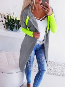 Grey-Green Bandeau Fashion Sweet Comfy V-neck Long Sleeve Blazer