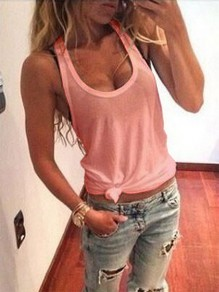 Pink Casual Fashion Cute Comfy Going out Fashion Vest