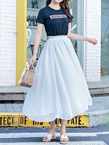White Pleated High Waisted Layers Of Grenadine Fluffy Puffy Tulle Elegant Skirt