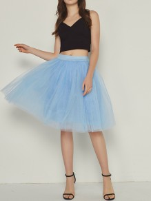 Dusty Blue Layers Of Grenadine Fluffy Puffy Tulle Chiffon Homecoming Party Short Princess Skirt