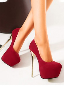 Escarpins mode ronde stiletto rouge