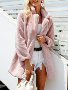 Pink Fur Fur Others Long Sleeve Fashion Outerwears