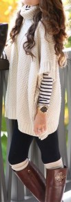 Beige Plain Hollow-out Short Sleeve Cape Sweater