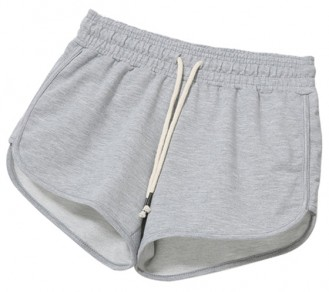 Grey Plain Elastic Waist Mid-rise Casual Athletic Shorts With Sport And Yoga For Women