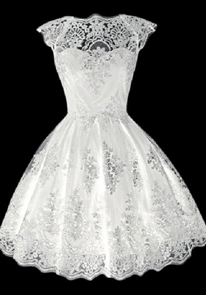 133d58cb380 Mini-robe en dentelle tutu en tulle élégant mariage de soirée blanc ...