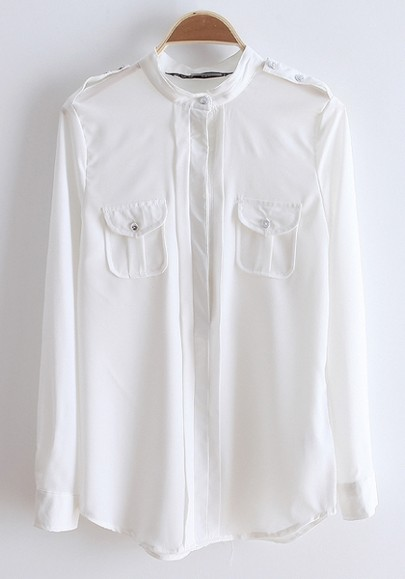 Band Collar Blouse