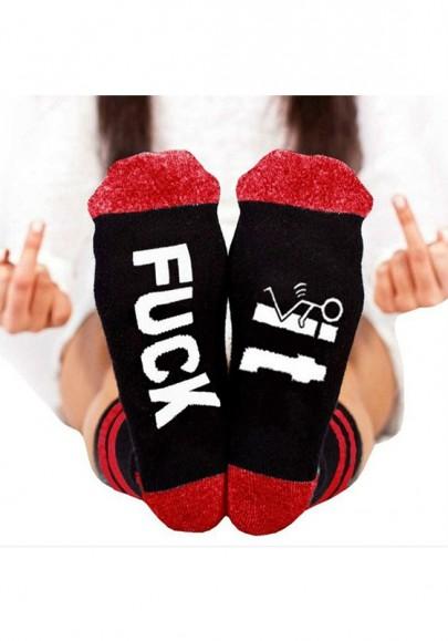 Leggings pur coton imprimé monogramme décontracté rouge