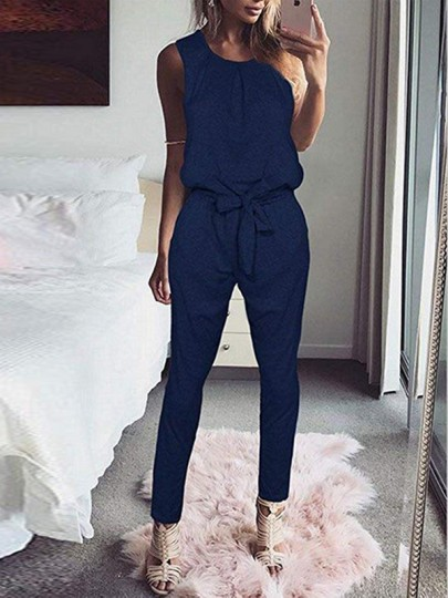 combinaison pantalons papillon ceinture col rond. Black Bedroom Furniture Sets. Home Design Ideas