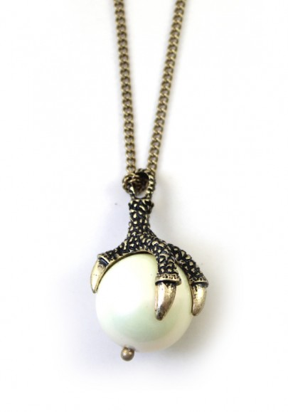 Punk Dragon Claw Catch The Ball Chain Necklace