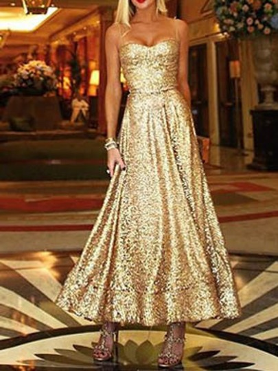 Yellow Patchwork Sequin Off Shoulder Pleated Sparkly Glitter Birthday Party Maxi Dress