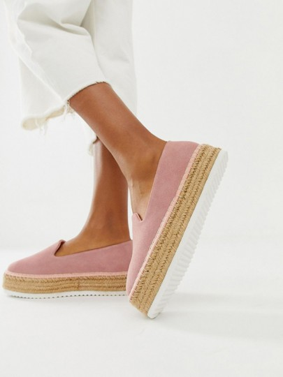 Pink Round Toe Heavy-Soled Fashion Flat Shoes