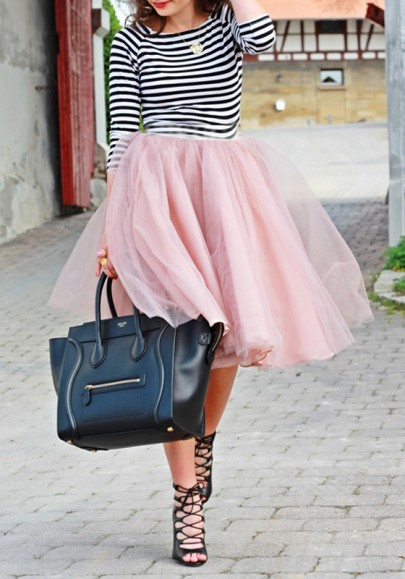 Rosa Mesh Gefaltet Oversize Tulle Tutu High Waisted Puffy Damen Mode Süße Abend Party Tüllrock Minirock
