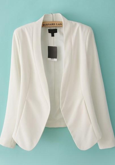Weiß Band Halsband Baumwollmischung Anzug