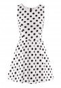 Multicolor Polka Dot Falbala Sleeveless Synthetic Fiber Dress