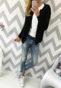 Black Plain Long Sleeve Casual Slim Cardigan Sweater